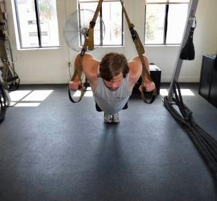 Chest press down position