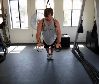Chest Press up position